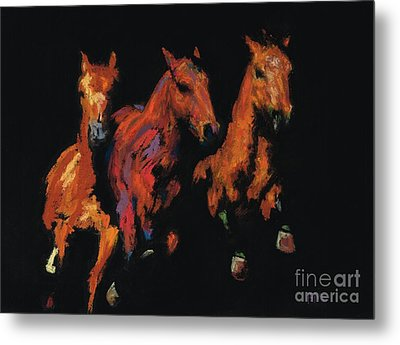 The Competitive Edge Metal Print by Frances Marino