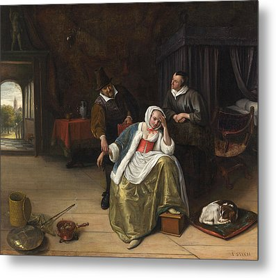 The Lovesick Maiden Metal Print by Jan Steen