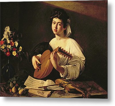 The Lute Player Metal Print by Caravaggio