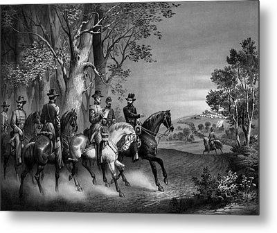 The Surrender Of General Lee Metal Print