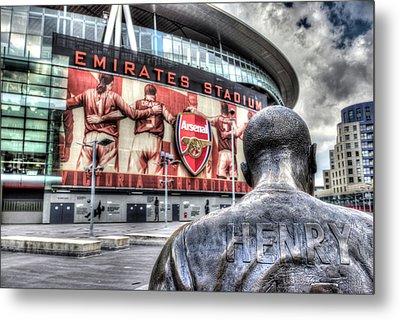 Thierry Henry Statue Emirates Stadium Metal Print
