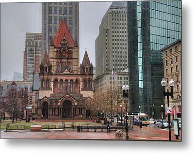 Metal Print featuring the photograph Trinity Church - Copley Square - Boston by Joann Vitali
