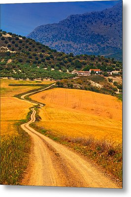 Twisty Road, Near Casabermeja, Malaga Metal Print by Panoramic Images