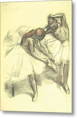 Two Dancers Metal Print by Edgar Degas