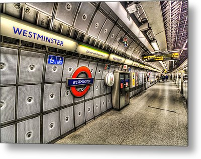 Underground London Metal Print by David Pyatt