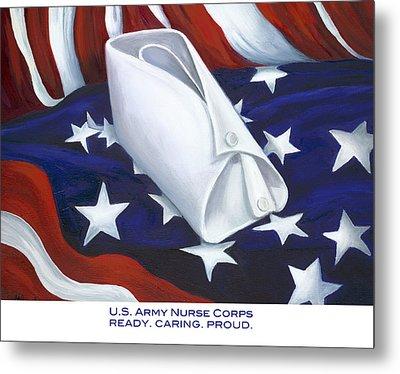 Metal Print featuring the  U.s. Army Nurse Corps by Marlyn Boyd