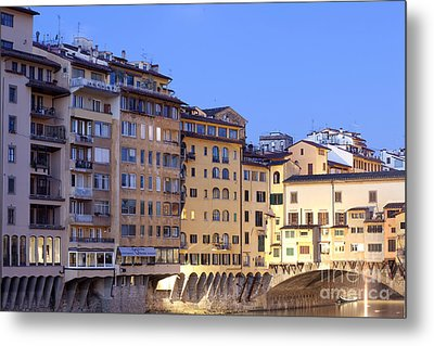 Vecchio Bridge Metal Print by Andre Goncalves