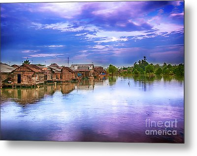 Metal Print featuring the photograph Village by Charuhas Images