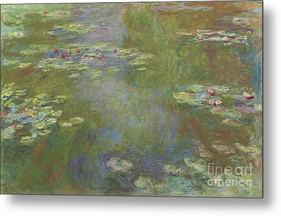 Water Lily Pond Metal Print by Claude Monet