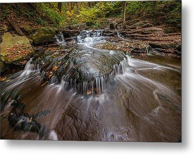 Ricketts Glen State Park Pennsylvania Cascades Metal Print by Rick Dunnuck