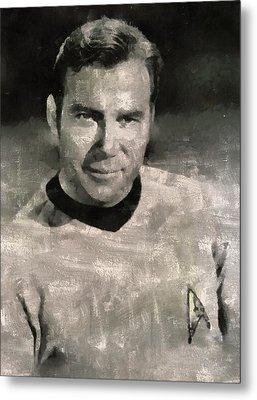 William Shatner Star Trek's Captain Kirk Metal Print