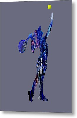 Womens Tennis Collection Metal Print by Marvin Blaine