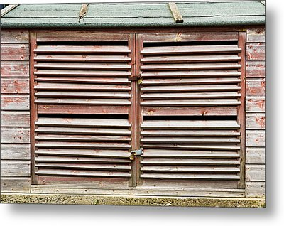 Wooden Doors Metal Print by Tom Gowanlock