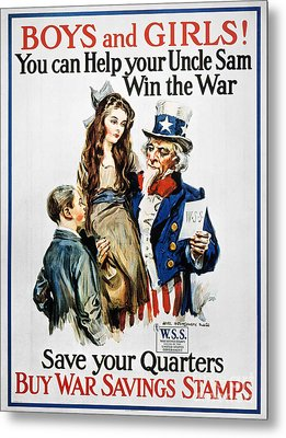 World War I: U.s. Poster Metal Print