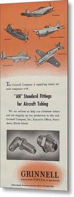 World War II Advertisement Metal Print by American School
