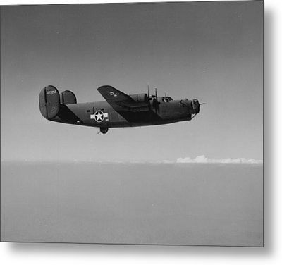 Wwii Us Aircraft In Flight Metal Print