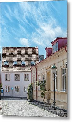Metal Print featuring the photograph Ystad Street Scene by Antony McAulay