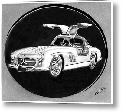 300 Sl Gullwing Metal Print