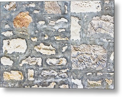 Stone Wall Metal Print by Tom Gowanlock