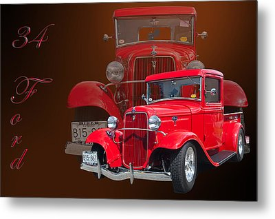 34 Ford Pick Up Metal Print by Jim  Hatch