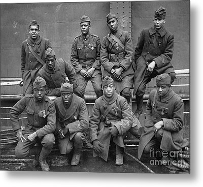 369th Infantry Regiment Metal Print by Granger