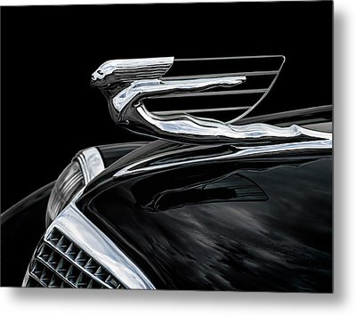 37 Cadillac Hood Angel Metal Print by Douglas Pittman