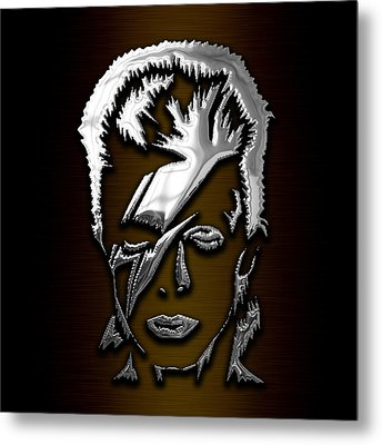 David Bowie Collection Metal Print by Marvin Blaine