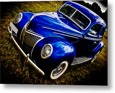 39 Ford V8 Coupe Metal Print by Phil 'motography' Clark