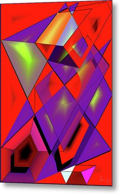 3d-cubes Metal Print by Helmut Rottler