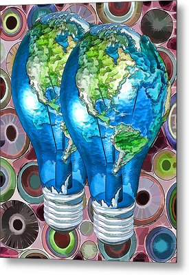 3d Render Of Planet Earth 15 Metal Print by Lanjee Chee