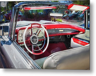 1959 Lincoln Continental Town Car Mk Iv Painted  Metal Print by Rich Franco