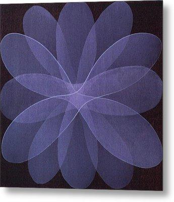 Abstract Flower  Metal Print by Jitka Anlaufova