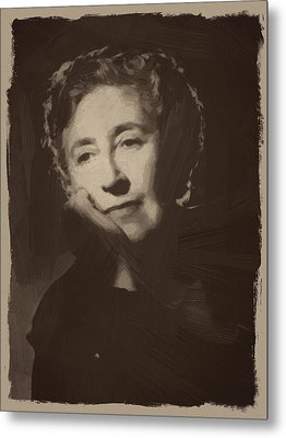 Agatha Christie 1 Metal Print by Afterdarkness