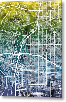 Albuquerque New Mexico City Street Map Metal Print