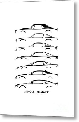 American Pony Silhouettehistory Metal Print