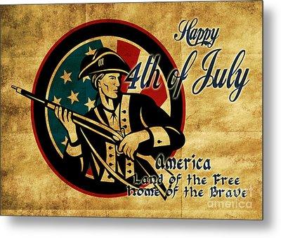American Revolution Soldier General  Metal Print by Aloysius Patrimonio