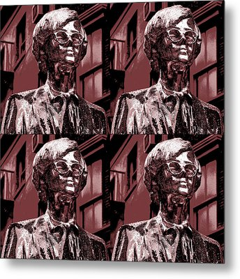 Andy Warhol Statue Union Square Nyc  Metal Print by Robert Ullmann