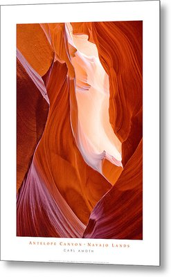 Antelope Canyon Metal Print by Carl Amoth