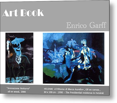 Art Book Metal Print