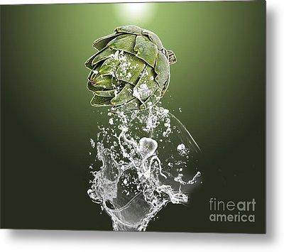 Artichoke Splash Metal Print