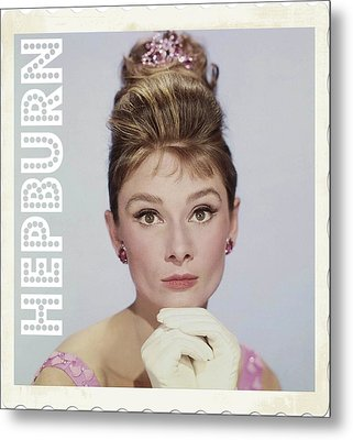 Audrey Hepburn Metal Print by John Springfield
