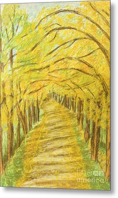 Autumn Landscape, Painting Metal Print