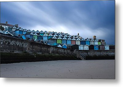 Beach Huts Metal Print by Martin Newman