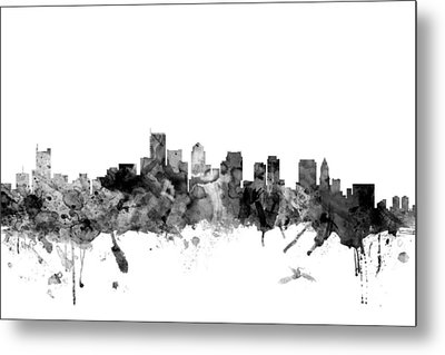 Boston Massachusetts Skyline Metal Print by Michael Tompsett