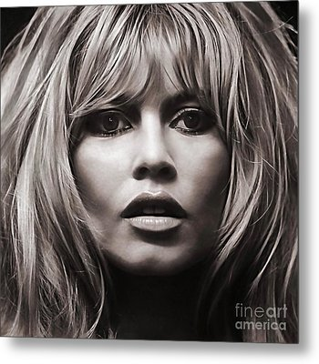 Brigitte Bardot Collection Metal Print