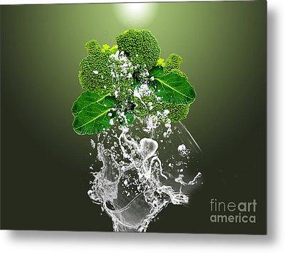 Broccoli Splash Metal Print by Marvin Blaine