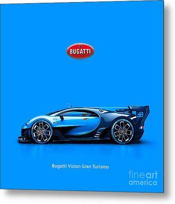 Bugatti Vision Gran Turismo Metal Print by Mohamed Elkhamisy