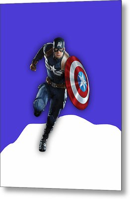 Captain America Collection Metal Print by Marvin Blaine