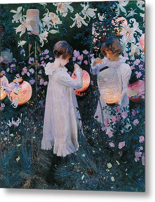 Carnation Lily Lily Rose Metal Print by John Singer Sargent