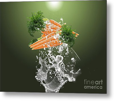 Carrot Splash Metal Print by Marvin Blaine